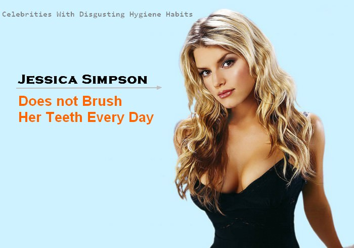 Jessica Simpson Celebrities With Disgusting Habits